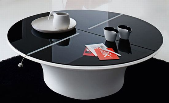 Alluring Black Glass Furniture