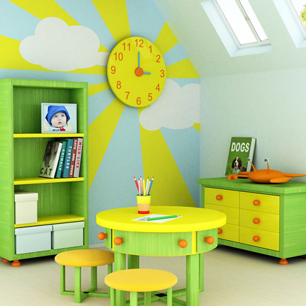 Green and Yellow Children Furniture