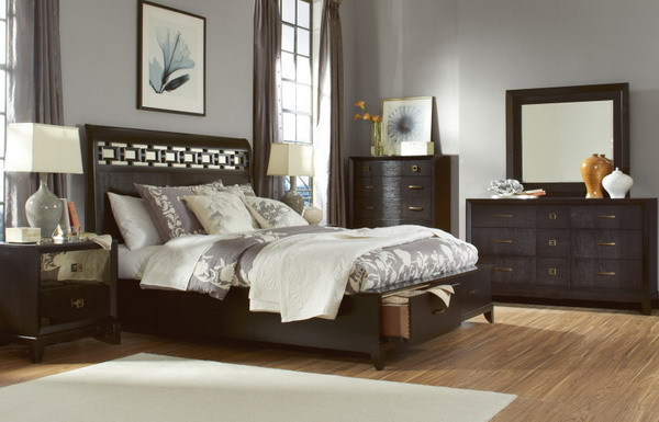 Superb Dark Wood Bedroom Furniture