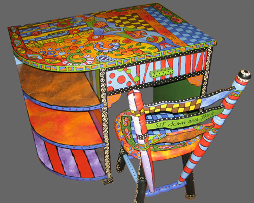 Colourful Hand Painted Furniture