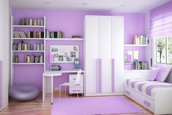 Purple Kids Bedroom Furniture Sets