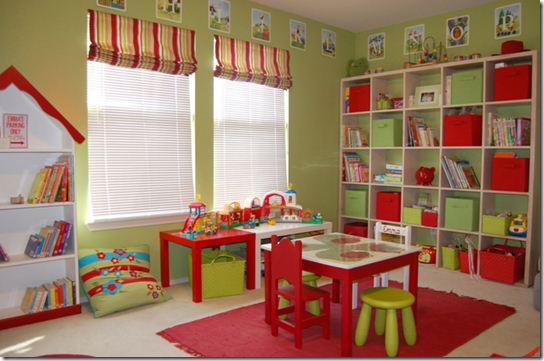 Colorful Kids Playroom Furniture