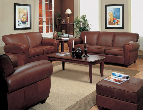 Comely Leather Living Room Furniture