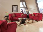 Red Living Room Furniture Cheap