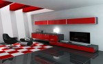 Shiny Red Modern Furniture Design