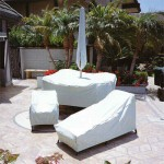 White Patio Furniture Cover