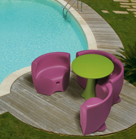 Purple Plastic Patio Furniture