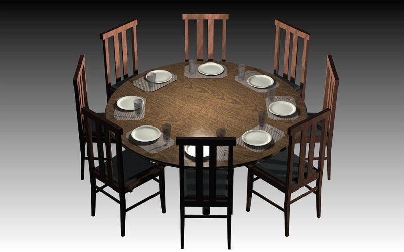 8 Seater Round Dining Table 2016