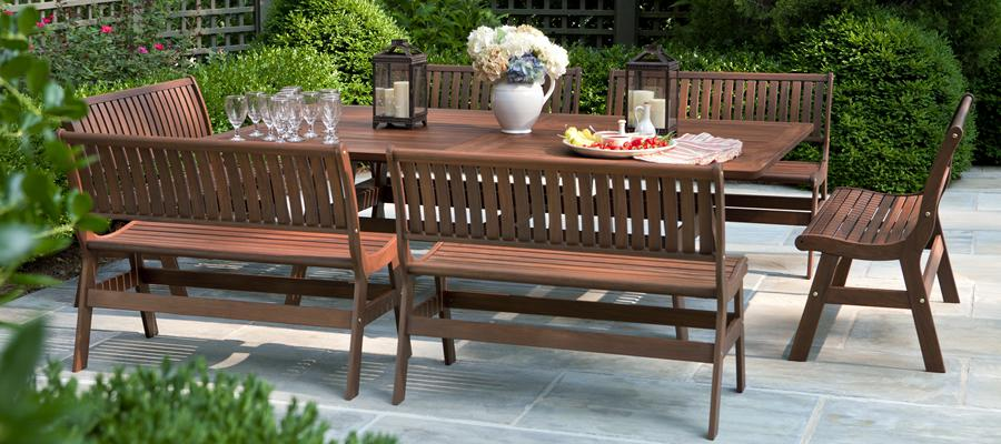 Statueque Wood Patio Furniture