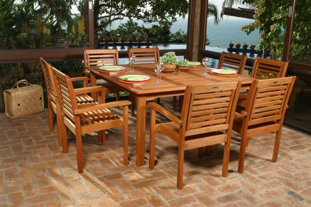 Simple Wooden Patio Furniture