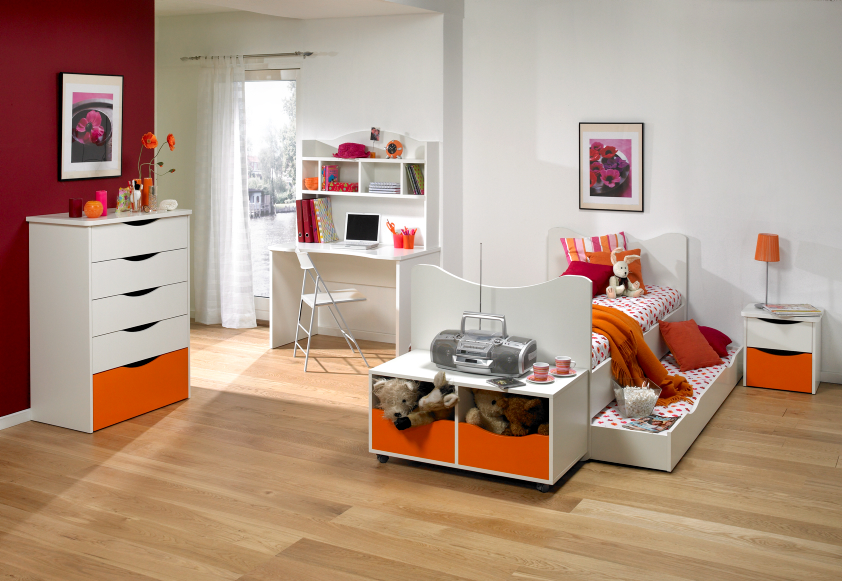 White orange Kids Furniture