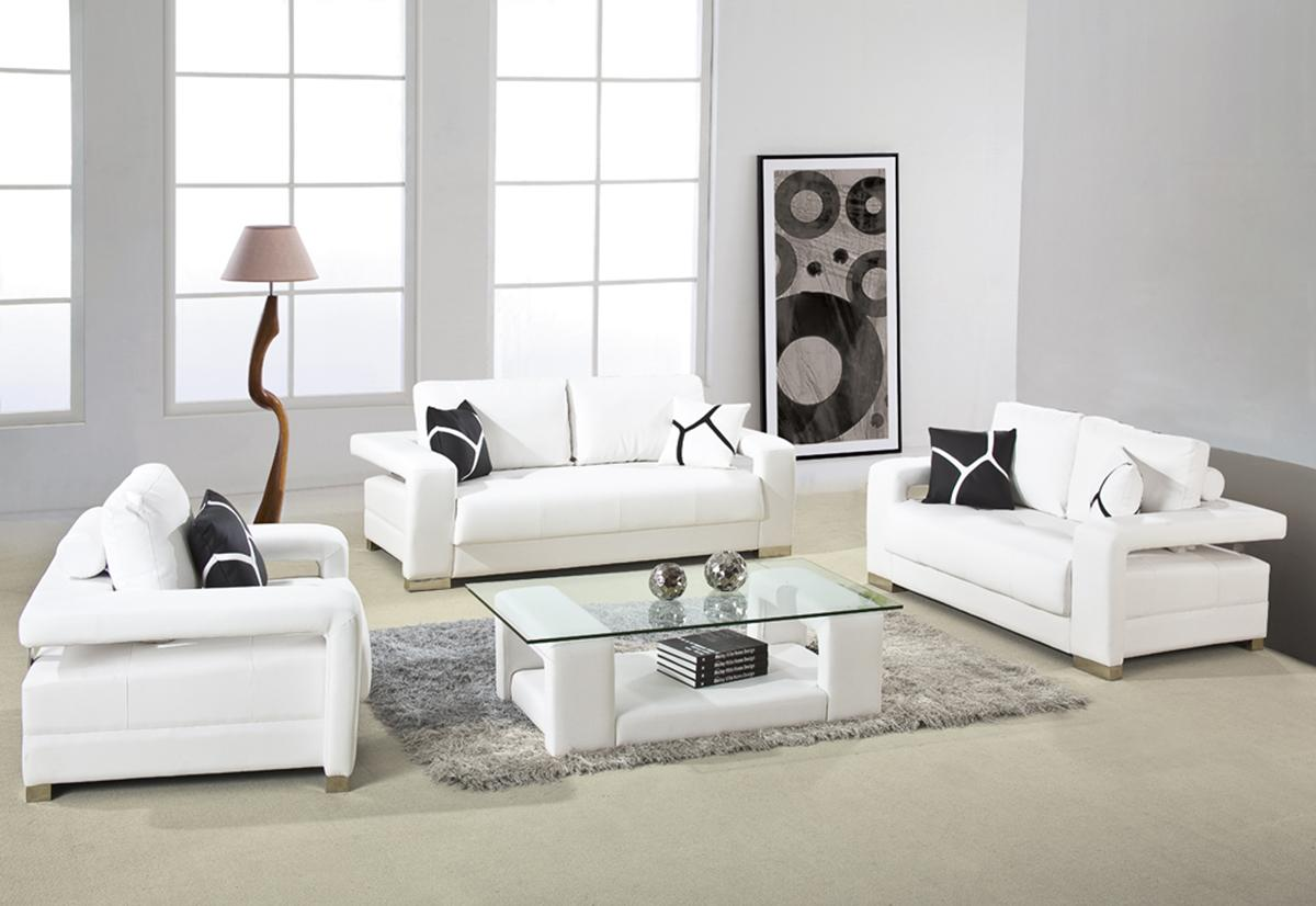 White Living Room Sets