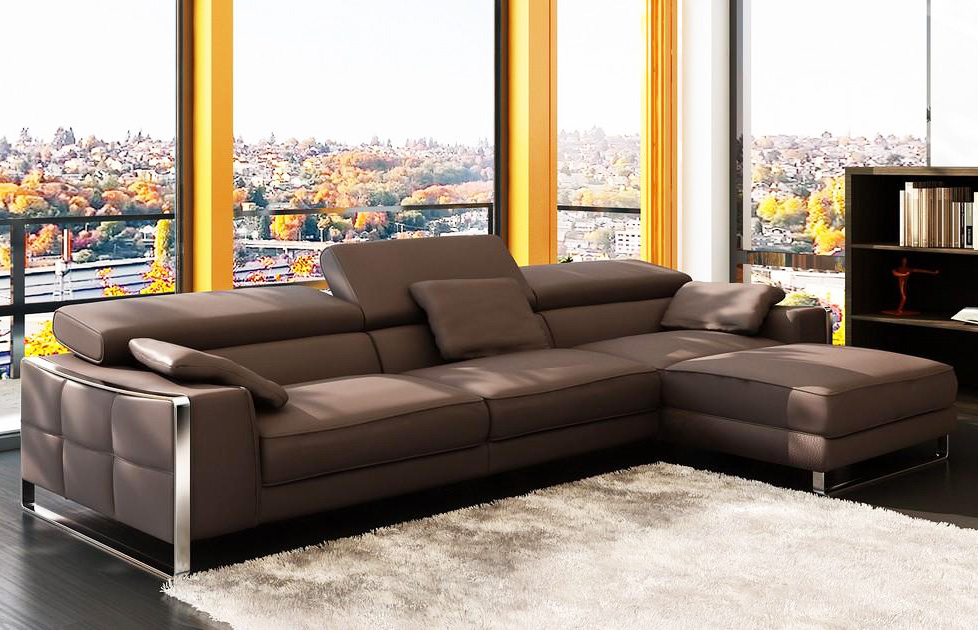 Flavio Leather Sectionals
